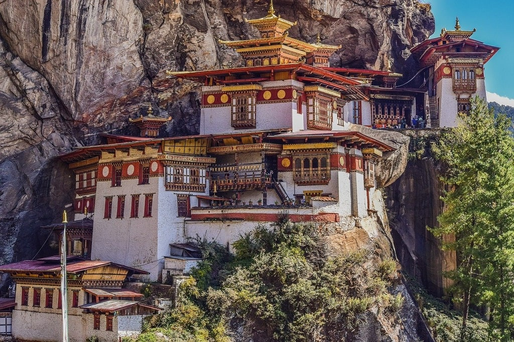 Paro Taktsang Monastery Bhutan: 50 Magnificent & Famous Temples in Asia that you must visit   Outside Suburbia