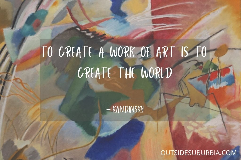 50 + Inspiring Quotes about Art by Artists | Outside Suburbia