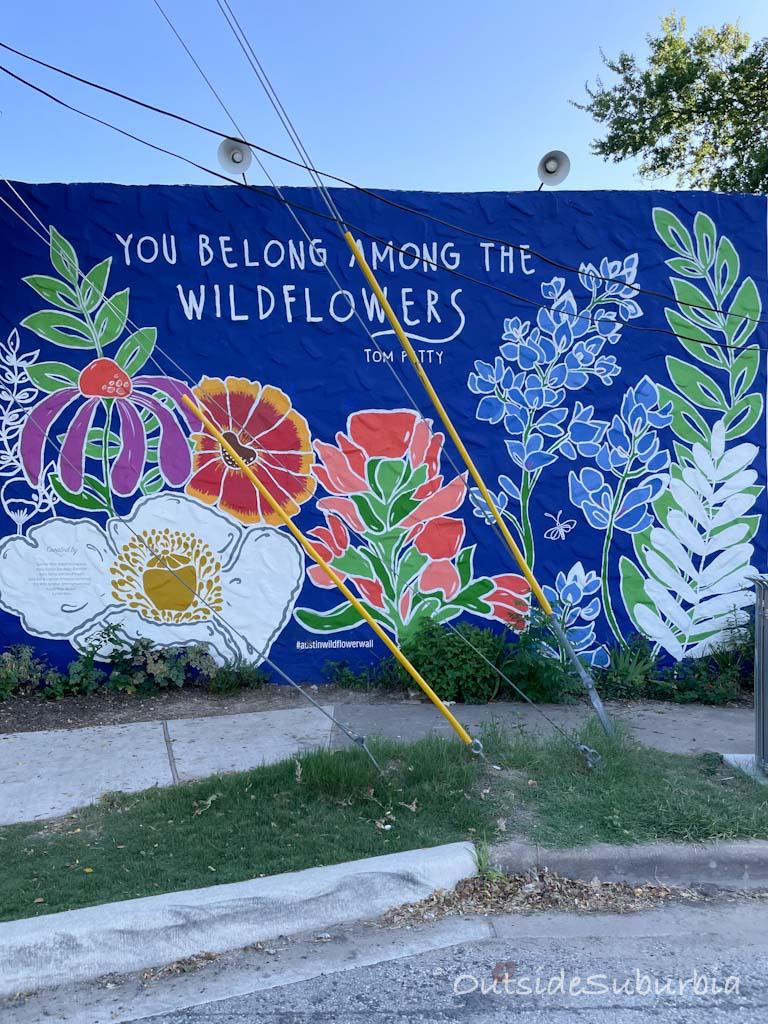 You belong among wildflowers | Austin Mural | Outside Suburbia