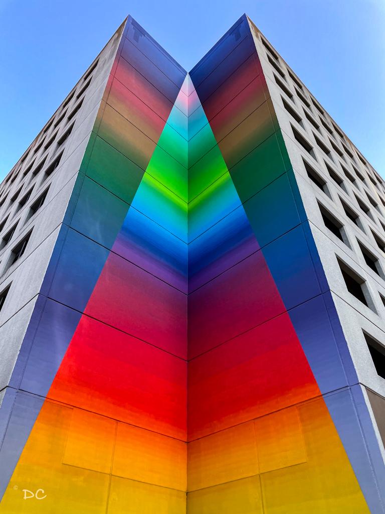 Tau Ceti, Colorful Spectrum mural in Austin   OutsideSuburbia