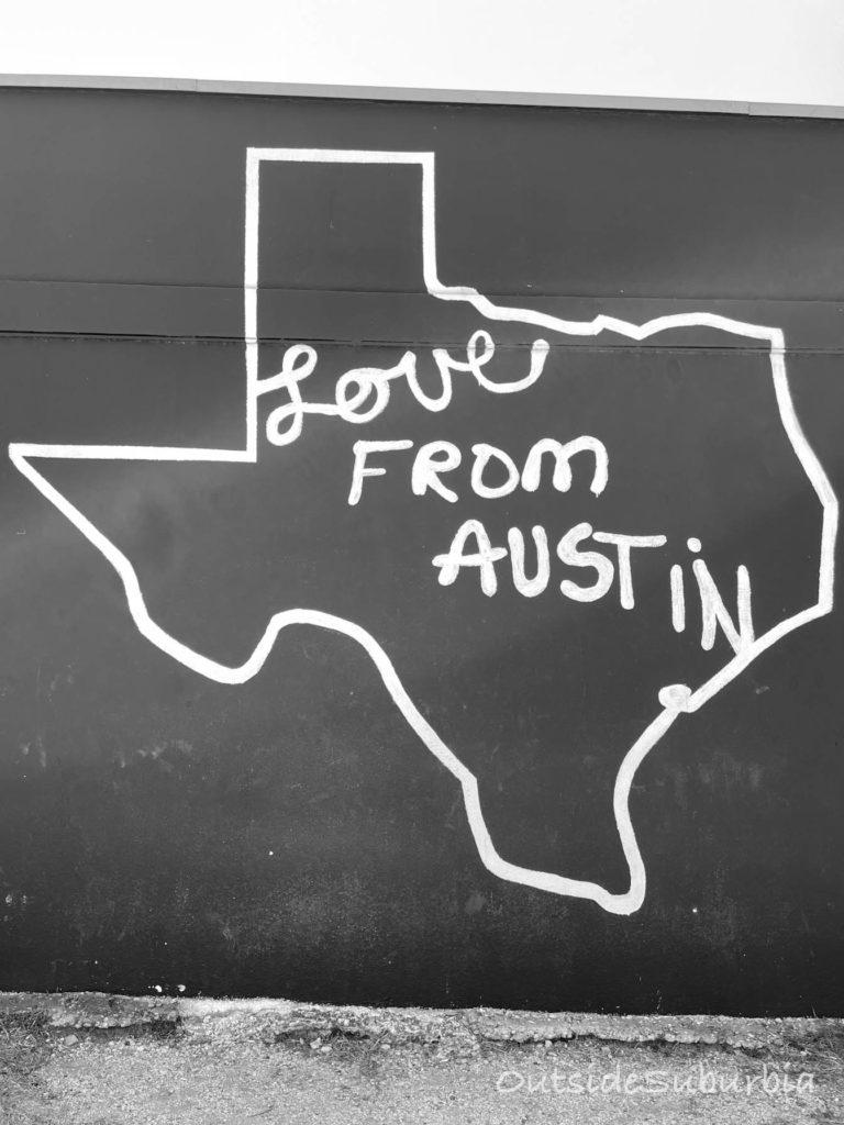 Love from Austin Mural   OutsideSuburbia