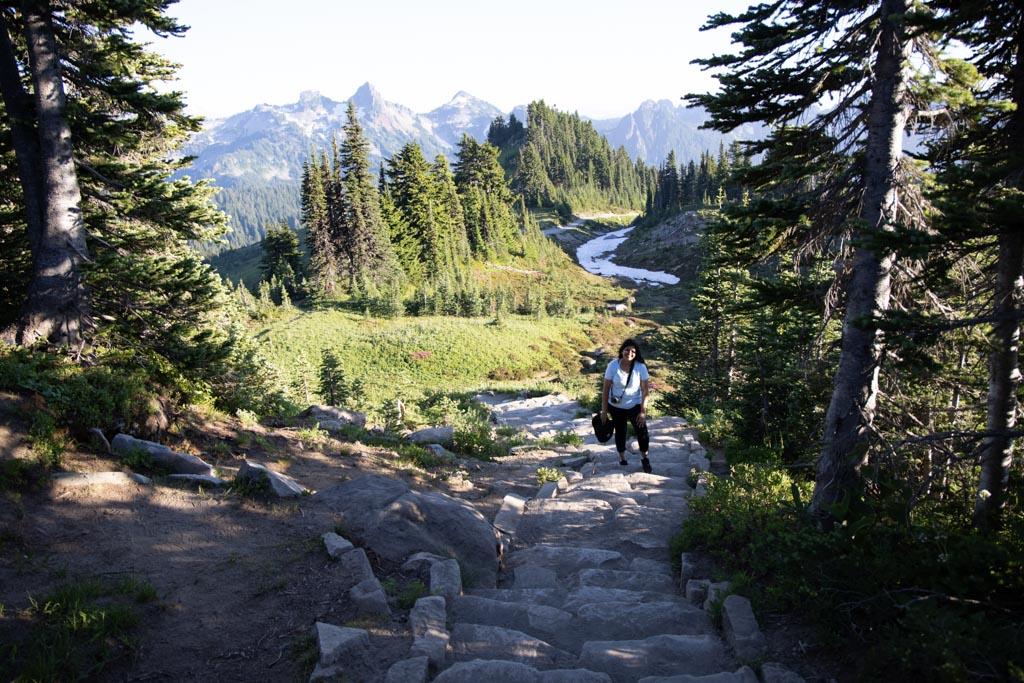 Hiking in Mt. Rainier National Park