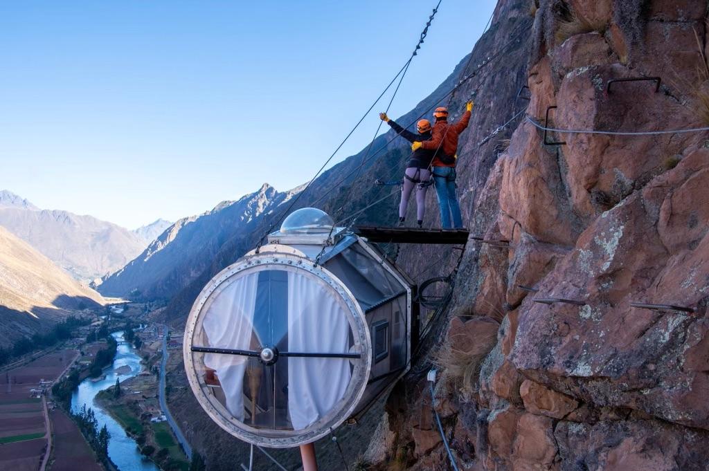 Glass capsule, Sacred Valley Sky Lodge Peru | Outside Suburbia