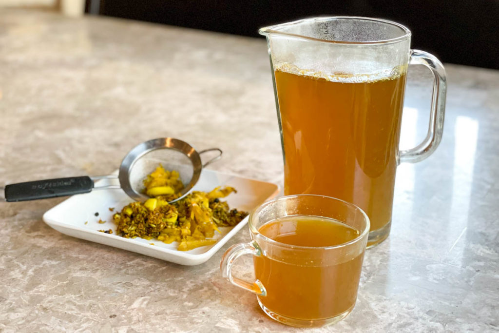 Make a pot of this 10 ingredient herbal tea that includes cumin, fennel, ajwain seeds for seasonal allergy relief and overall wellness.